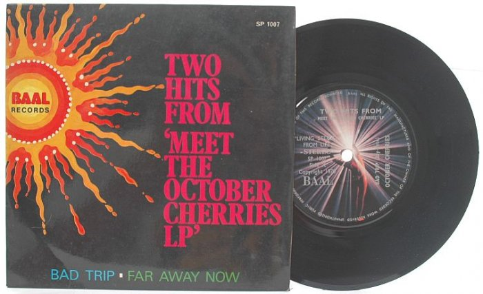 """RARE Meet The OCTOBER CHERRIES ASIA PSYCH BAND 7"""" Baal"""