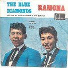 "BLUE DIAMONDS Ramona 7"" EP FONTANA 60s Asian Duo"