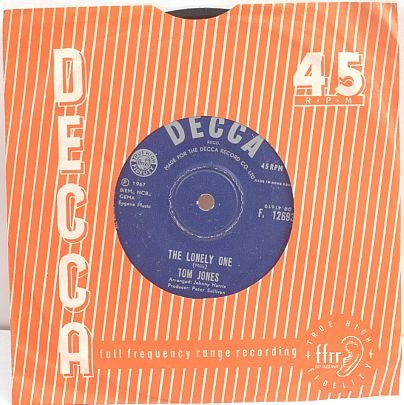 "TOM JONES Coming Home HONG KONG 7"" SP 45 RPM Decca"
