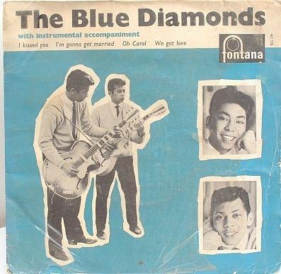 "BLUE DIAMONDS 4Track 7"" EP PS 45 RPM Fontana Holland"