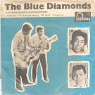 "BLUE DIAMONDS 4Track 7"" EP PS 45 RPM Fontana Holland"