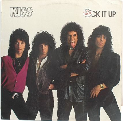 KISS Lick It Up 1983 NETHERLANDS LP RECORD