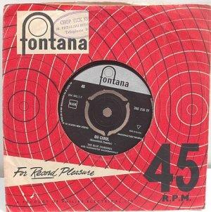 "BLUE DIAMONDS Oh Carol ASIA 60s DUO 7"" SP Fontana"
