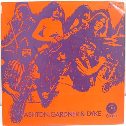 "ASHTON,GARDNER & DYKE Power Trio HONG KONG 7"" PS EP"