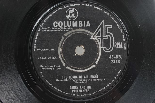 """GERRY & THE PACEMAKERS Just Because 7"""" SP India"""