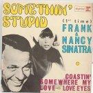 """NANCY& FRANK SINATRA Somethin' Stupid 7"""" PS EP French"""
