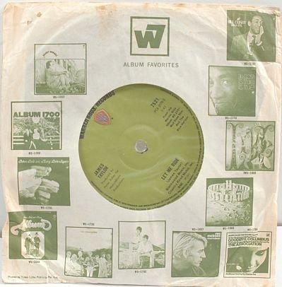 """JAMES TAYLOR Let Me Ride 1971 7"""" SP Singapore"""
