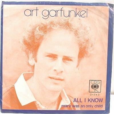 """ART GARFUNKEL All I Know 1973 7"""" PS SP 45RPM MALAYSIA"""
