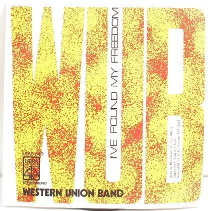 """WESTERN UNION BAND Asian 70s Band 7"""""""