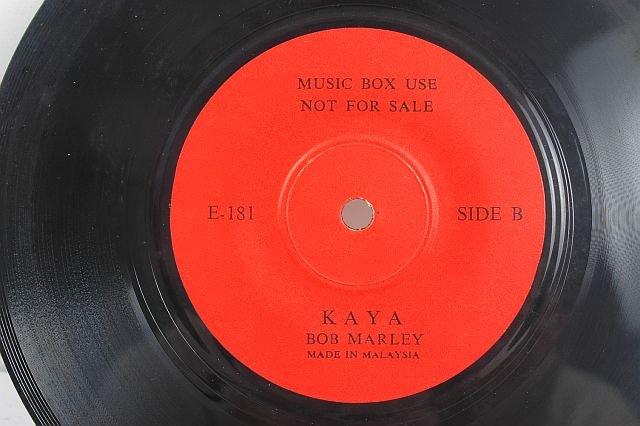 "BOB MARLEY Kaya RED LABEL 7"" MALAYSIA PROMO"