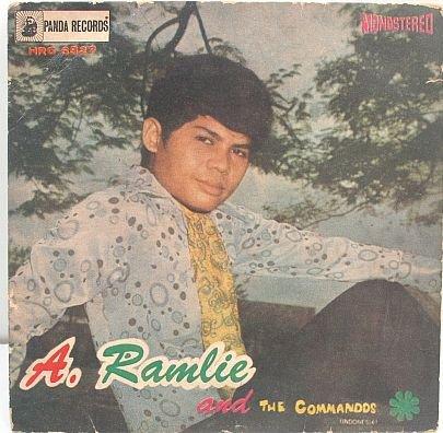 """A RAMLIE & COMMADOS Nyawa 60s MALAY POP 7"""" PS EP"""