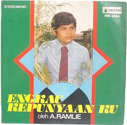"""A RAMLIE Engkau Kepunyaan Ku 60s MALAY POP 7"""" PS EP"""