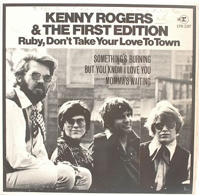 """KENNY ROGERS Ruby Don't Take Your Love 7"""" EP Singapore"""
