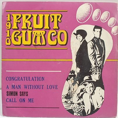 "1910 FRUIT GUM co. Malaysia 7"" EP 45 RPM P/S"