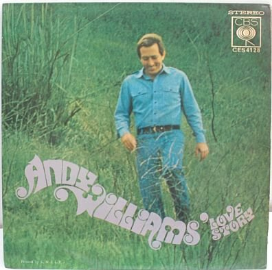 """ANDY WILLIAMS Love Story 7"""" PS EP CBS Asia"""