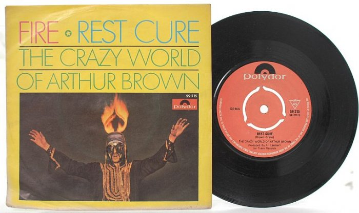 "CRAZY WORLD OF ARTHUR BROWN Fire GERMAN 7"" PS"