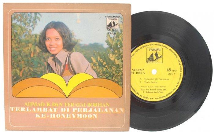 "Malay 70s Pop AHMAD B & TERATAI BORHAN Honeym 7"" PS EP"