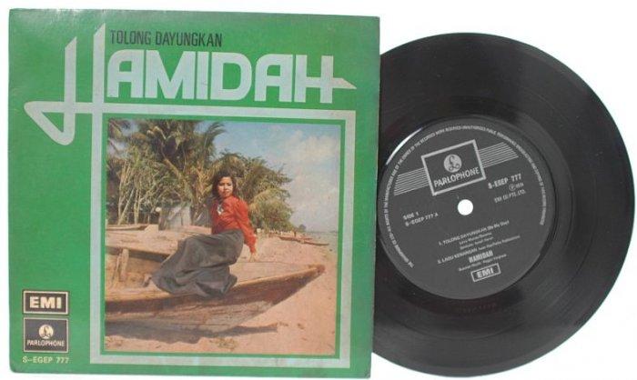 "Malay 70s POP HAMIDAH Tolong Dayungkan 7"" PS EP"