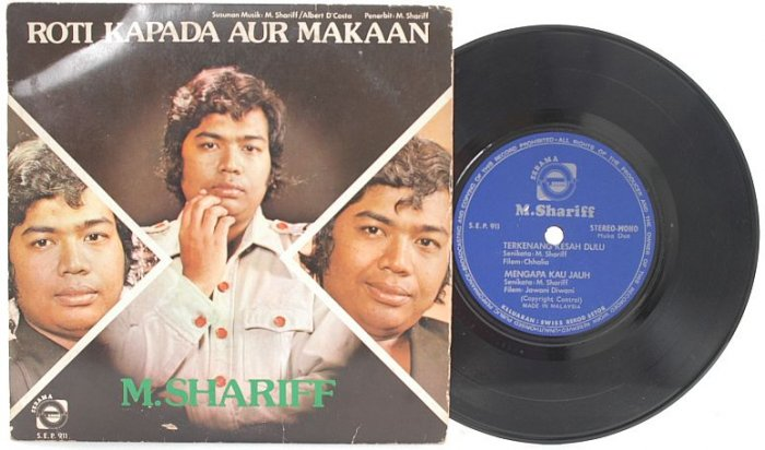 "Malay 70s POP M. SHARIFF Roti Kapada 7"" PS EP"