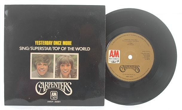 """CARPENTERS Superstar / Yesterday SINGAPORE 7"""" PS EP"""