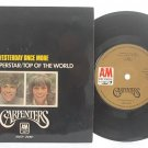 "CARPENTERS Superstar / Yesterday SINGAPORE 7"" PS EP"