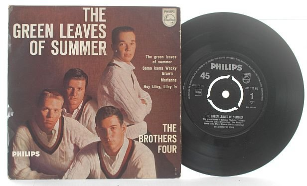 """BROTHERS FOUR leaves of Summer PHILLIPS EP 7"""" 45 RPM"""