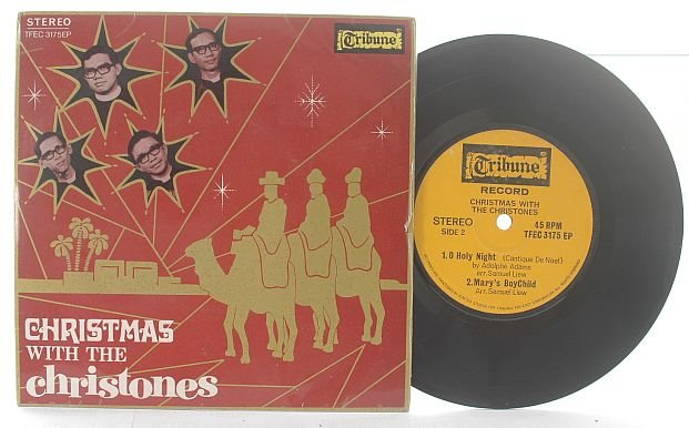 "CHRISTONES Asian Evangelical Ban CHRISTMAS EP 7"" 45 RPM"