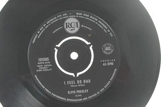 "ELVIS PRESLEY I feel So Bad AUSTRALIA RCA 7"""