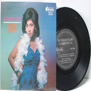 "Malay 70s Pop SANISAH HURI Kisah Cinta 7"" PS EP"
