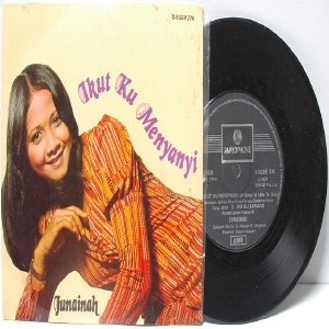 "Malay 70s Pop JUNAIDAH Ikut Ku Menyanyi  7"" PS EP"