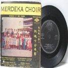 "Rare MALAYA Merdeka Choir  TONY FONSEKA 1957  7"" PS EP"