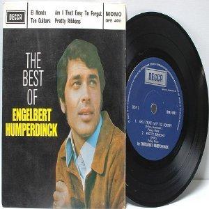 """ENGLEBERT HUMPERDINCK The Best Of MALAYSIA 7"""" PS 45 RPM"""