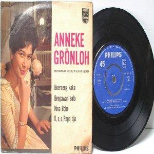 "Rare ANNEKE GRONLOH Asian Diva BENGAWAN SOLO 45 RPM 7"" PS EP"