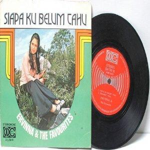"MALAY  70s DIVA Ervinna & The Favourites Siapa Ku Belum Tahu   7"" PS EP 45 RPM"