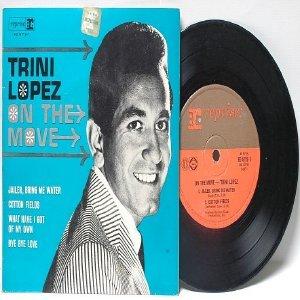 "TRINI LOPEZ On The Move OZ AUSTRALIA  Aussie 7"" 45 RPM PS EP"