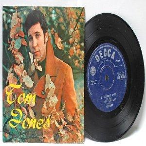 """TOM JONES Green Green Grass HONG KONG Decca  7"""" 45 RPM PS EP"""