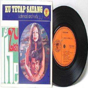 """Malay 70s Pop THE ZURAH feat S. AHMAD & RUDY J.J. 7"""" PS EP"""