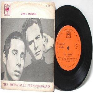 "SIMON & GARFUNKEL Mrs. Robinson CBS ASIA 7"" 45 RPM PS"