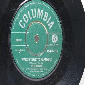"HELEN SHAPIRO Kiss N' run  COLUMBIA INDIA Asia 7"" 45 RPM"