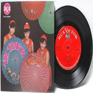 "ASIAN 60s GIRL BAND The Tidbits ASIA 7"" 45 RPM PS Gatefold  EP"