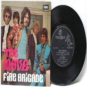 "Super Rare THE MOVE Fire Brigade SINGAPORE  ASIA 7"" 45 RPM PS EP"