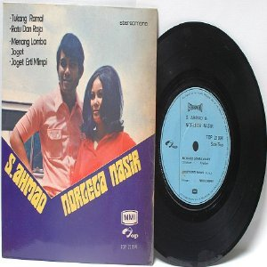 "Malay 70s Pop S. AHMAD & NORGEGA IBRAHIM Tukamg Ramal7"" PS EP"