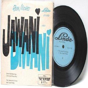 "BOLLYWOOD INDIAN Jawani  LINDE 7"" 45 RPM EP"