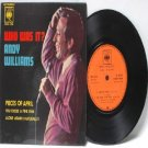 """ANDY WILLIAMS Who Was It? MALAYSIA CBS ASIA 7"""" 45 RPM PS EP 1972"""