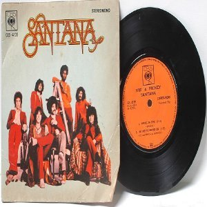 "SANTANA Shades Of Time  CBS ASIA 7"" 45 RPM PS Gatefold EP"