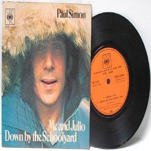 "PAUL SIMON Me And Julio  CBS Malaysia ASIA 7"" 45 RPM Gatefold PS"