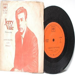 """JERRY VALE Lover's Roulettes INTERNATIONAL Asia CBS 7"""" 45 RPM PS"""