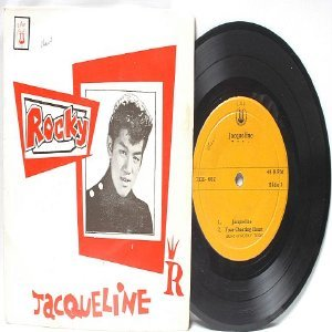 """Asian Elvis ROCKY TEOH Jacqueline /  Your cheating Heart  7"""" 45 RPM PS EP"""