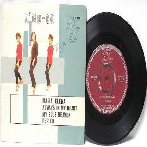 """Asia 60s band CHARLIE & HIS GO GO BOYS A Go Go 7"""" 45 RPM PS EP"""