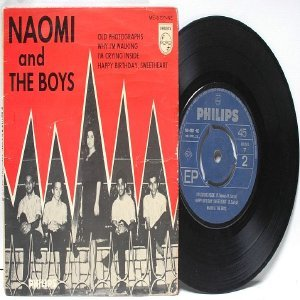 """Asian 60s Band NAOMI & THE BOYS Old Photograph  7"""" 45 RPM PS EP"""